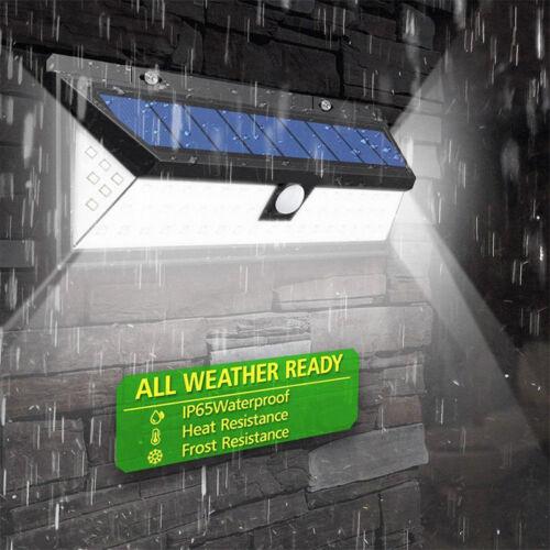 118LED Solar Power Security Light Lampada da giardino con sensore movimento NEW