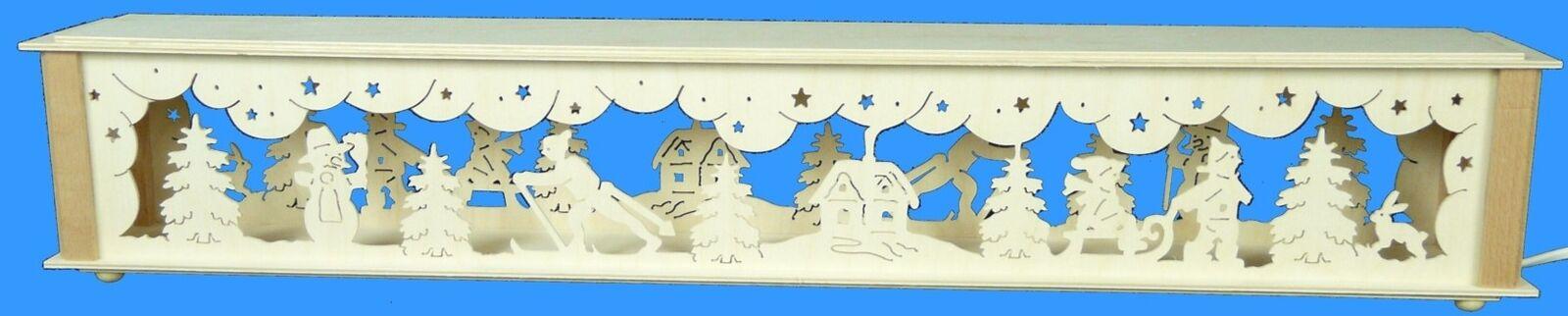 Beleuchtete Schwibbogenerhöhung Winterkinder 72x10cm NEU Zubehör  Lichterbogen