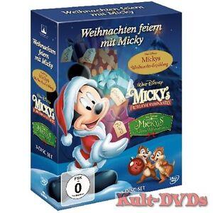 Weihnachten-feiern-mit-Micky-Maus-3-DVD-Box-Walt-Disney-Neu-OVP