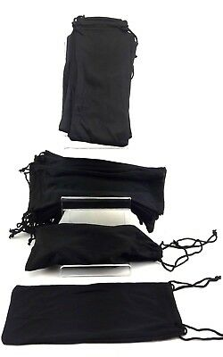 Capace 50 Pcs Whole Sale Job Lots Bulk Black Protection Pouches For Sunglasses Uk Stock