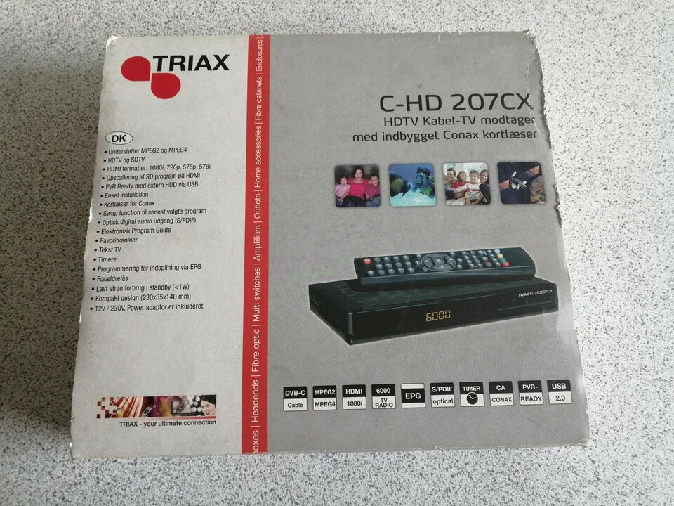 Digital box, Triax, C-HD207