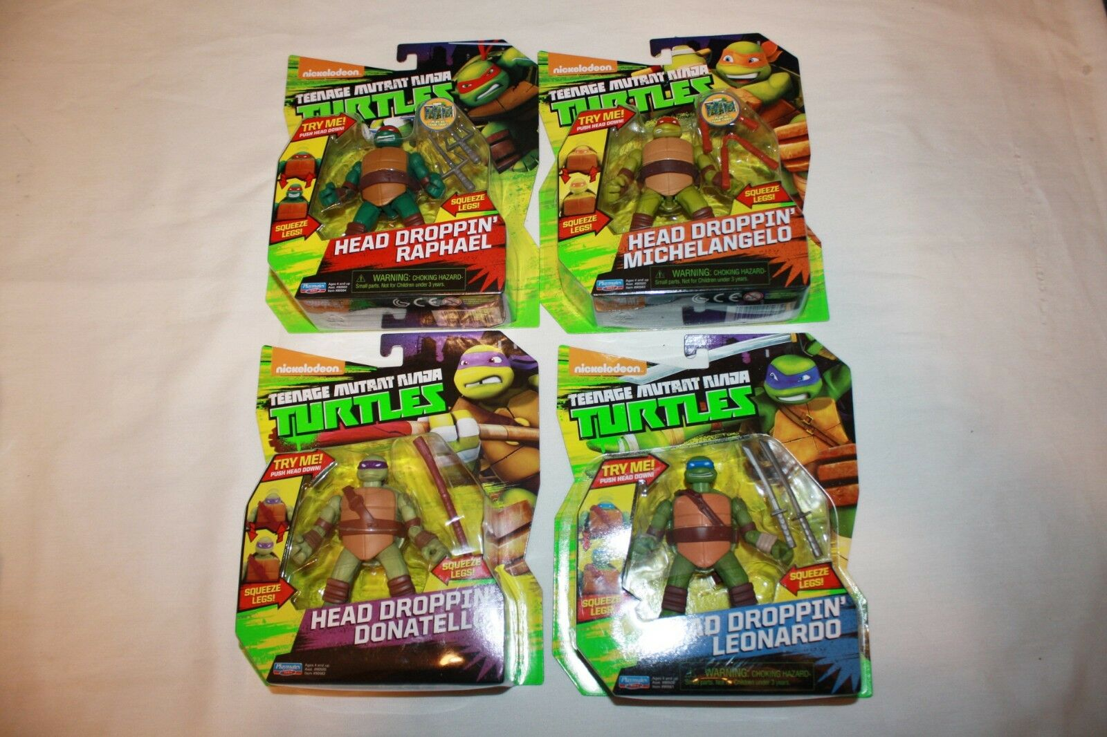 Teenage mutant ninja turtles tmnt kopf fallen lassen  x4 leo ralph nicht mike 2012