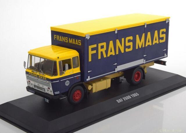 1:43 Ixo DAF 2600 Frans Maas 1965 yellow/darkblue/creme
