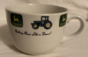 John Deere large Bean Cereal Chili Soup bowl mug by Gibson