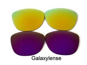 Galaxy-Lentes-De-Repuesto-Para-Oakley-Frogskins-gafas-de-sol-purple-amp-gold