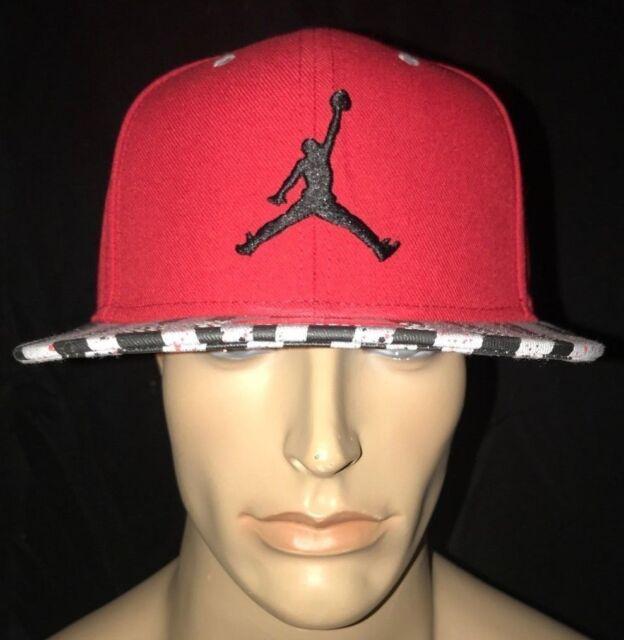 3bbb5a48a56 Nike Air Jordan Jumpman Retro 10 Flat Bill Snapback Hat Red Black Grey  707545