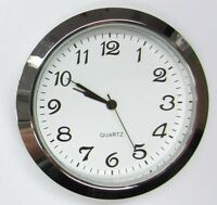 3 Pack, 2-1/8(55mm) Premium Quartz Clock Insert,silver Bezel,metal Case, Arabic