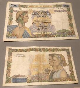 500 Francs La Paix Type 1939 - 17/10/1940 R.10455 Tb + Krnnm7j6-08001702-877771972