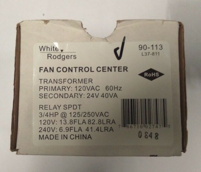 White-Rodgers 90-113 120v Fan Control Center for sale online