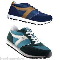 Mens Dunlop Mens Kt26 Kt-26 Runners Running Black White Blue Sneakers Shoes