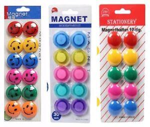 Smiley Face Fridge Magnets Strong Magnet Memo Magnetic Whiteboard Note Holder UK
