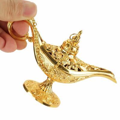 Gold Aladdin Magic Genie Light OiL Lamp Pot Mini Legend Light Stunning Decor