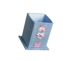 10 x Job Lot Girls Denim Butterfly Pen Holder Gift Party Bag PN-7544 By Katz