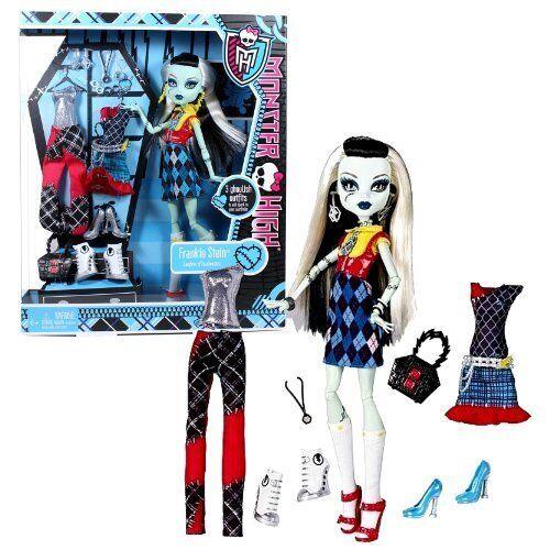 Mattel X4491 Monster High Frankie Stein I Love Fashion Doll And 3
