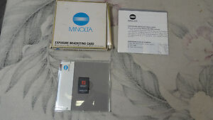 MINOLTA EXPOSURE BRACKETING CARD (FOR USE WITH DYNAX / MAXXUM 7000i Camera only)