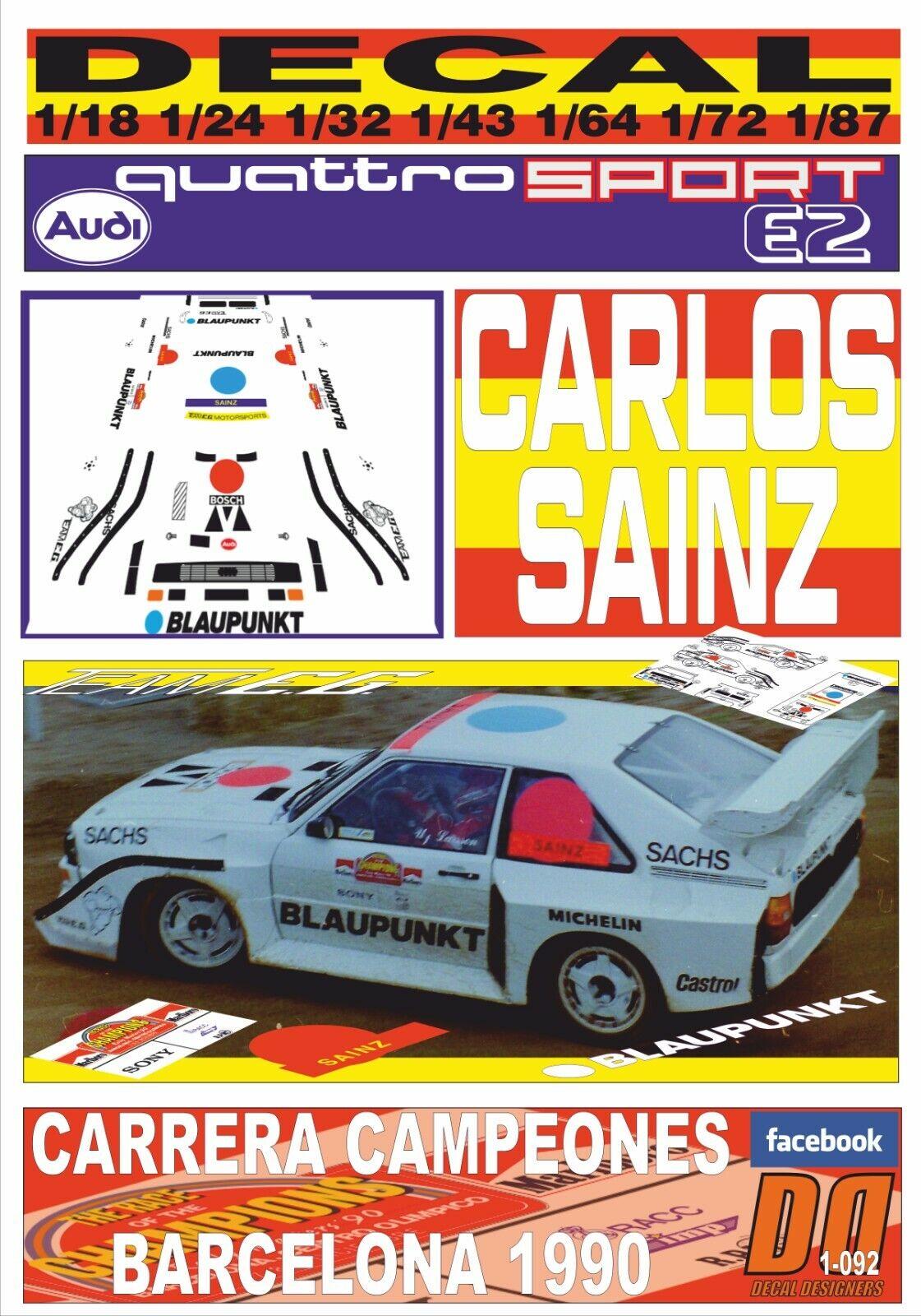DECAL AUDI QUATTRO S1 red C. SAINZ CARRERA CAMPEONES BARCELONA 1990 (05)