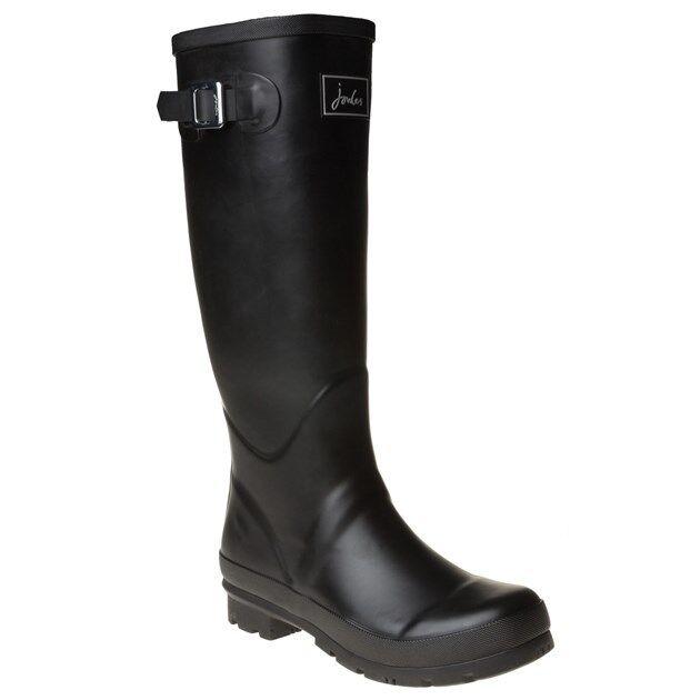 NUOVA linea donna Joules Nero Welly Campo Stivali di gomma Welly Nero Knee-High Pull On 4909a5