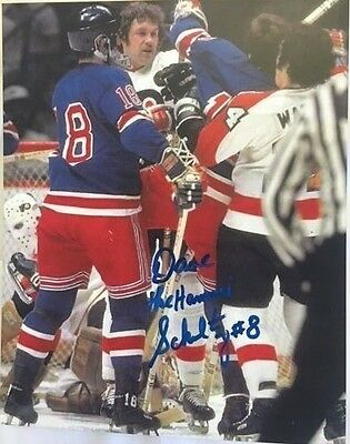 Dave the Hammer Schultz Memorabilia with the Broad Street Bullies