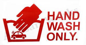 Hand Wash Only Car Detailing Car Wash Vinyl Decal Sticker Funny - Vinyl decals car wash
