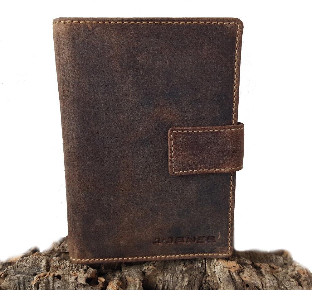 Herren Leder Brieftasche RFID groß Geldbörse Passfach mit vielen Kartenfächern