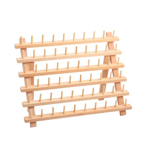 Holz Garnrollenständer 60 Spulen Garnrollenhalter Näh Stickerei Rollenhalter