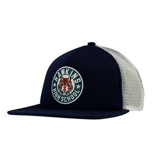 Nike-Stranger-Things-Hawkins-High-Blue-Snapback-Trucker-Hat-CQ8461-419-One-Size