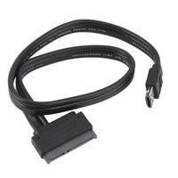 Power eSATA USB 2.0 5V 12V Combo to 2.5'' 3.5'' 22pin SATA HDD Adapter Cable LO