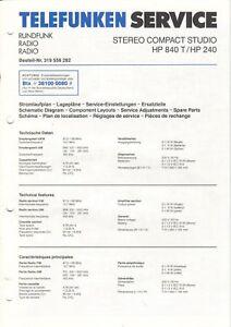 TELEFUNKEN-HP-840-T-HP-240-Service-Einstellungen-Schaltplan-Diagrams-B6411