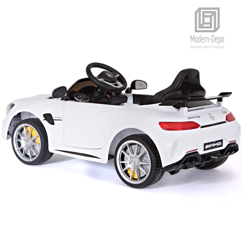 Mercedes Benz AMG GTR 12V Kids Electric Ride On Car Car Car w  Remote Control White e9e5c8
