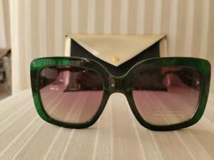 Bethenny Eyeware (Emerald Green) Sunglasses earpieces brown textured tortoise