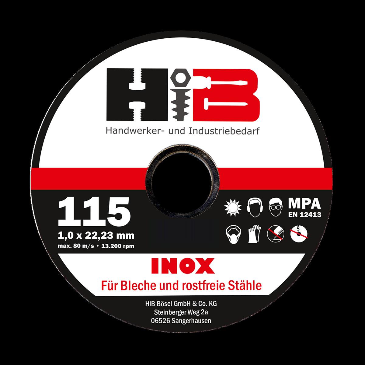 1mm HIB Profi Trennscheiben Trennscheibe für Metall wahlweise Ø 115mm und 125mm