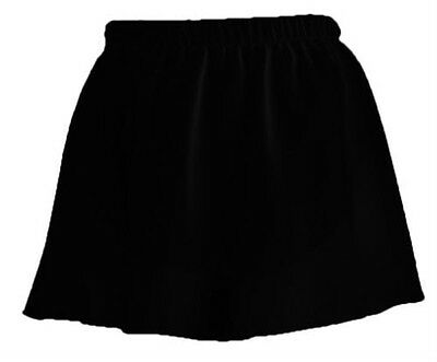 Danskin 3318 Girls Black Georgette Pull-On Skirt for Dance