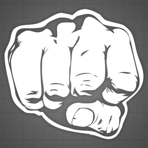"""2 decals Fist Truck Window Decal Truck Window Sticker Punch Sticker 12/"""""""