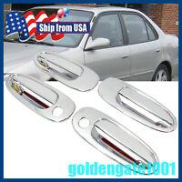 Us Chrome Side Door Handle Cover For Toyota Corolla Ae100 94-97 / Rav4 97-00 Gg