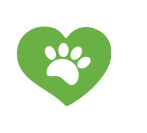 Dog Paw Heart Animal Rescue Adopt Vinyl Decal for Car Laptop Wall or Phone