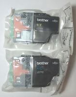 Genuine Brother Lc71 Ink 2 Pack (yellow, Cyan) Lc71y, Lc71c - Bulk Packaged