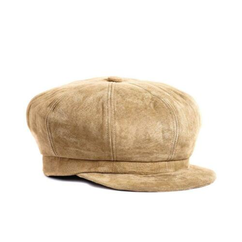 Suede Leather Spitfire Newsboy hat cap Made in USA Multiple Colors