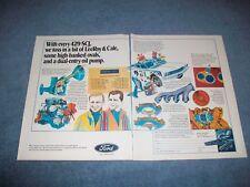 1970 Ford 429scj Engine Vintage 2pg Color Ad Super Cobra Jet
