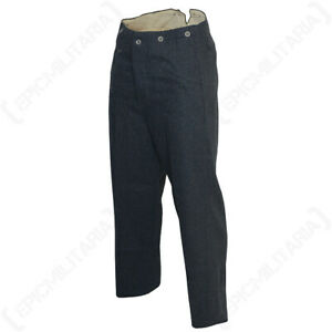 Reproduction-WW2-German-Army-Military-Luftwaffe-M40-Wool-Trousers-All-Sizes