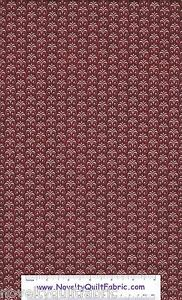 Bonjour-Swirl-Burgundy-Red-Accent-Color-Bakery-Cotton-Novelty-Quilt-Fabric-BTY