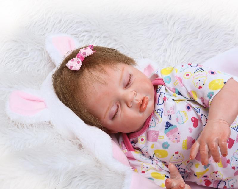 22  Muñeca Bebé Reborn niña medio cuerpo vinilo suave silicona recién nacido realista Juguetes