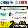 5D 23INCH 336W CREE LED LIGHT BAR COMBO OFFROAD 4WD BOAT SUV JEEP UTE TRUCK  24""
