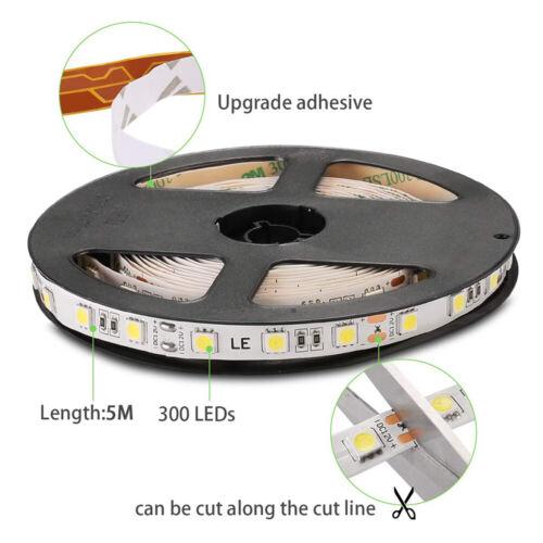 RGB LED Stripe 5050 60LED//M Leiste Streifen Lichterkette 5-10m+Kontrolleur+Trafo