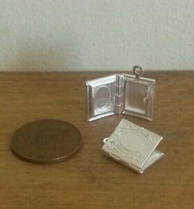 Dollshouse Miniature échelle 1:24 Cadre Photo ~ Argent ~-afficher Le Titre D'origine Forfaits à La Mode Et Attrayants