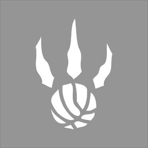 toronto raptors claw nba team logo color vinyl decal sticker car