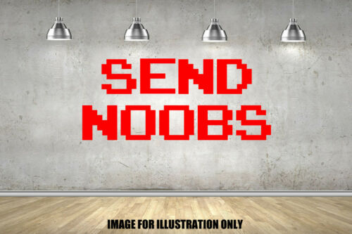 Send Noobs Any Colour Childrens Wall Stickers Fort Bedroom Nite Gaming Decal