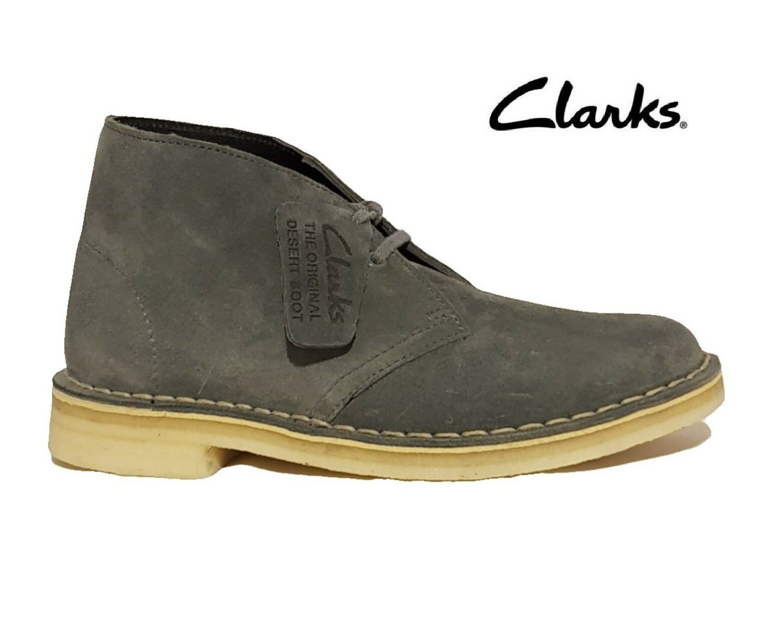 NEW SUEDE CLARKS ORIGINALS DESERT BOOTS GREY BLUE PINK SUEDE NEW LEATHER LADIES ANKLE BOOT 630279