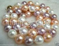 """8MM AAA+ Multi-Color South Sea SHELL PEARL NECKLACE 18"""" 14K CLASP"""