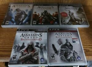 Set Assassins Creed 1 2 3 Brotherhood Revelations Playstation 3