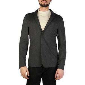 EMPORIO-ARMANI-Men-039-s-Blazer-Coat-Jacket-ANTHRACITE-Gray-New-amp-Authentic-RP-630